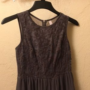 Embroidered Lacy Dress, Gray